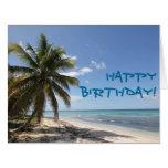 Feliz playa del Caribe del paraíso de Isla Saona Tarjeta De Felicitación Grande