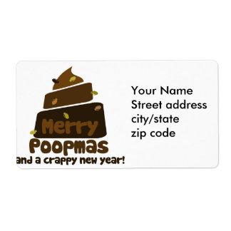 Feliz Poopmas Etiquetas De Envío