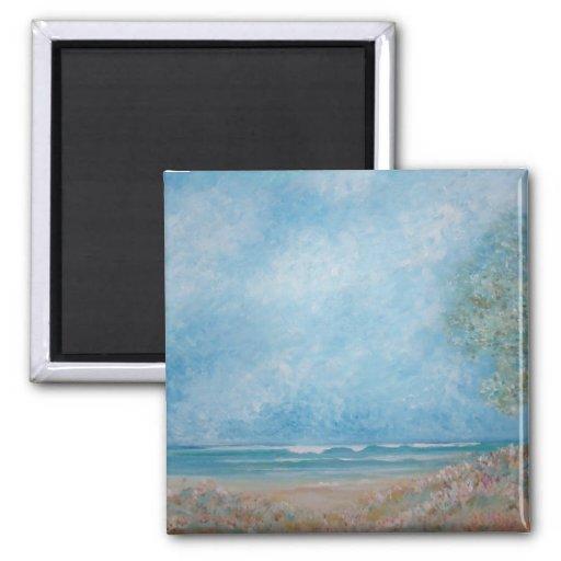 Feliz por el mar del artista enero Turner Imanes
