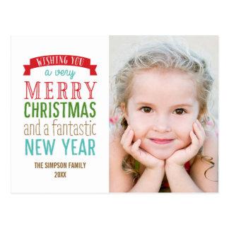 Feliz postal de la tarjeta de la foto del día de