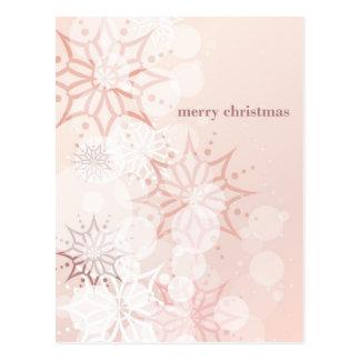 Feliz postal rosada de Chistmas