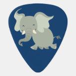 Feliz púa de guitarra linda del elefante del dibuj