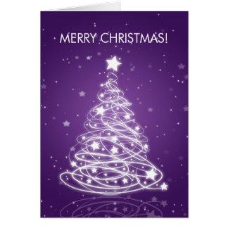 Feliz púrpura elegante de la MOD del árbol de navi Tarjeta De Felicitación