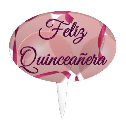 Feliz Quinceañera - décimo quinto cumpleaños feliz Figura Para Tarta