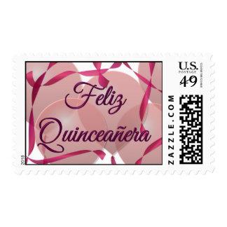 Feliz Quinceañera - décimo quinto cumpleaños feliz Estampillas
