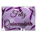 Feliz Quinceanera - décimo quinto cumpleaños feliz Tarjetas