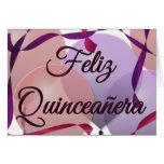 Feliz Quinceañera - décimo quinto cumpleaños feliz Tarjeta De Felicitación