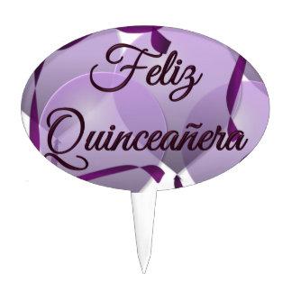 Feliz Quinceanera - Happy 15th Birthday Cake Topper