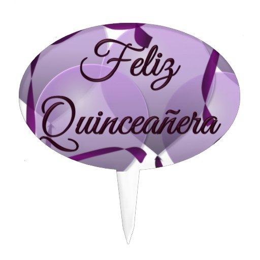 Feliz Quinceañera - Happy 15th Birthday Cake Topper