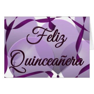 Feliz Quinceañera - Happy 15th Birthday Card