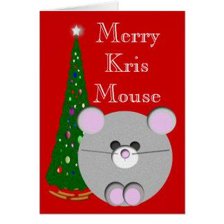 Feliz ratón de Kris Felicitación