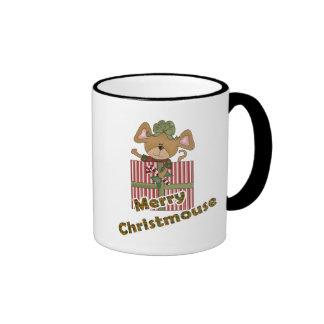 feliz ratón del christmouse taza de café