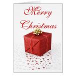 Feliz regalo de Navidad - regalo y estrellas Felicitación