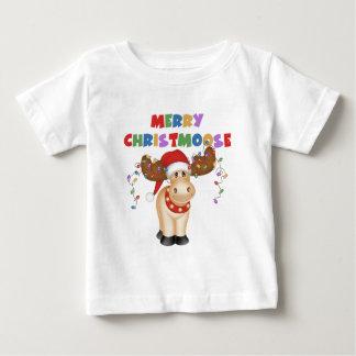 Feliz regalo del navidad de Christmoose Playera De Bebé