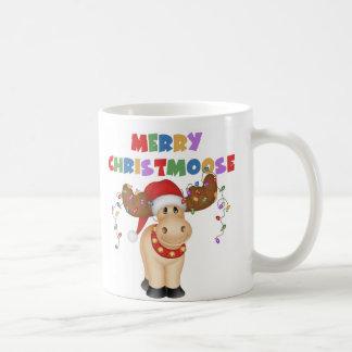 Feliz regalo del navidad de Christmoose Taza De Café