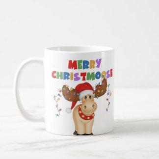 Feliz regalo del navidad de Christmoose Taza Clásica