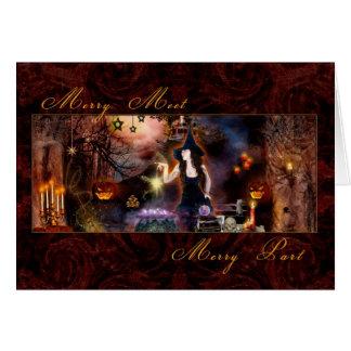 Feliz reunión - bruja mágica tarjeta de felicitación