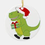 Feliz Rexmas T-Rex Ornamentos De Navidad