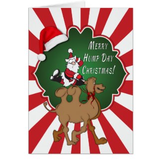 Feliz rojo Starburst del camello del navidad del d Tarjetón