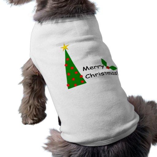 Feliz ropa del mascota de Chrstmas Camisas De Perritos