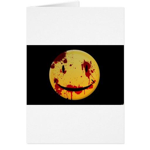 Feliz sangriento tarjeta de felicitación