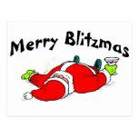 Feliz Santa bebido Blitzmas Postal