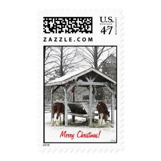 Feliz sello de los caballos de Chistmas