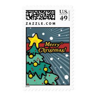 Feliz sello del árbol de navidad