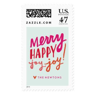 Feliz sello feliz del día de fiesta de la alegría