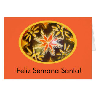 ¡Feliz Semana Santa! Painted Egg Spanish Greeting1 Card