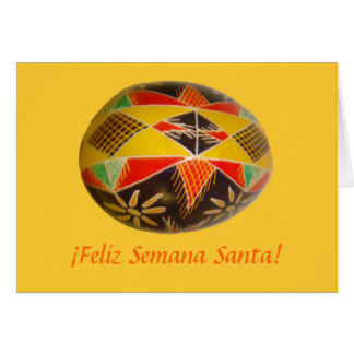 Feliz Semana Santa! Painted Egg  Spanish Greeting3 Card