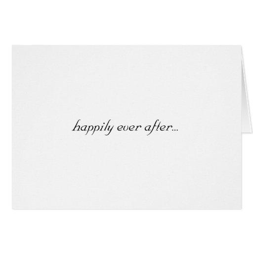 feliz siempre después… Tarjeta, casada en Las Vega