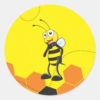 Feliz sonrisa amarilla linda soy actitud hermosa pegatina redonda
