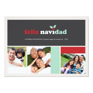 Feliz Squares tarjeta de felicitación de Navidad Card