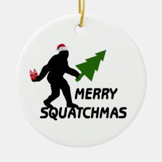 Feliz Squatchmas Adorno De Navidad