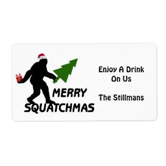 Feliz Squatchmas Etiquetas De Envío