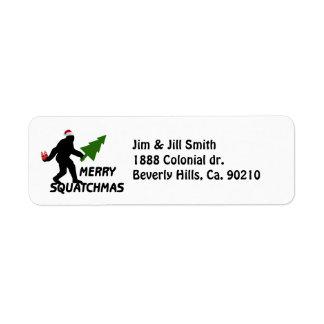 Feliz Squatchmas Etiqueta De Remite