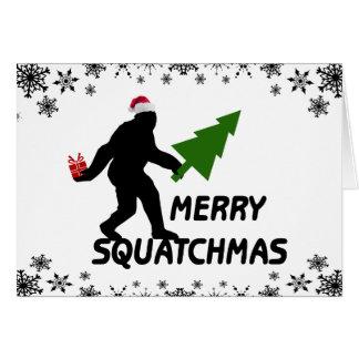 Feliz Squatchmas Tarjetas