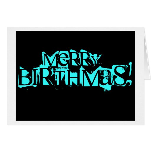 Feliz tarjeta de Birthmas