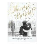 Feliz tarjeta de encargo brillante de la foto del invitación personalizada