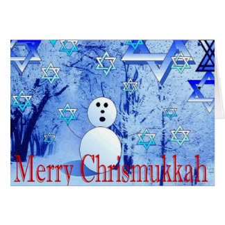 Feliz tarjeta de felicitación judía del navidad de