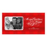 Feliz tarjeta de la foto del navidad de las rayas  tarjetas personales