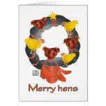 Feliz tarjeta de la guirnalda del navidad de las g