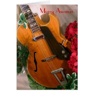 Feliz tarjeta de la guitarra del jazz de Axemas