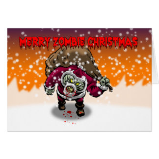 Feliz tarjeta de Navidad del zombi