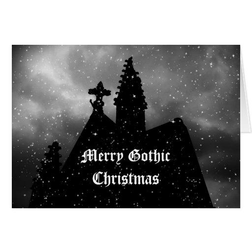 Feliz tarjeta de Navidad gótica