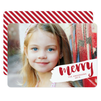 """Feliz tarjeta moderna de la foto del día de fiesta invitación 5"""" x 7"""""""