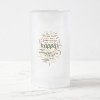 Feliz Taza Cristal Mate