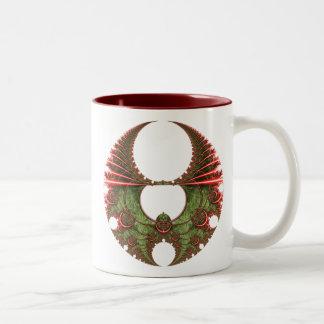 Feliz taza #2 de la guirnalda del navidad de Mande