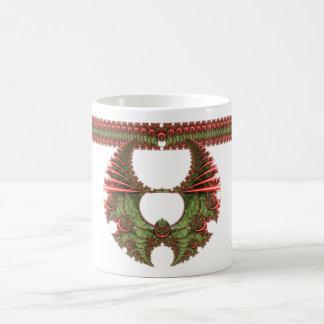 Feliz taza de la guirnalda del navidad de Mandelbr